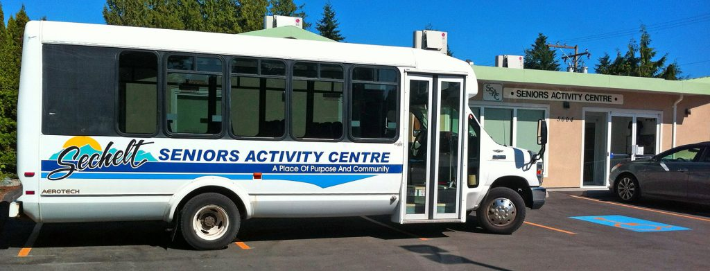 Picture of Sechelt Activity Centre bus and entrance