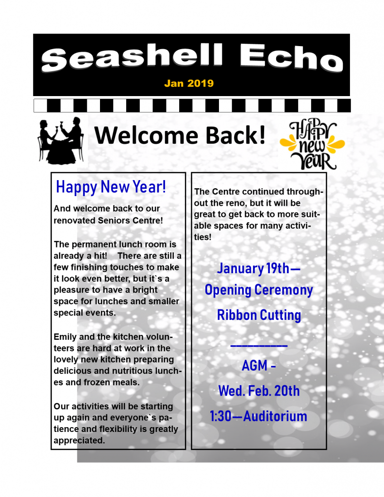 Seashell Echo January 2019 - click to download