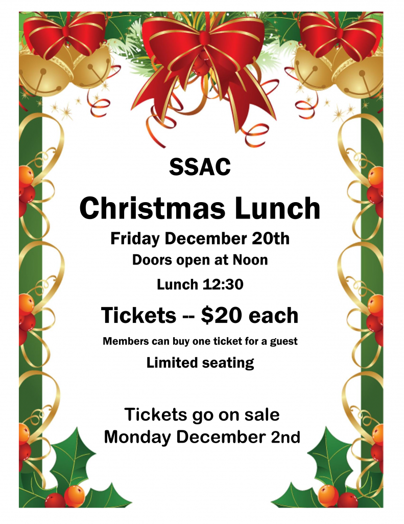 Christmas Luncheon Friday December 20 2019